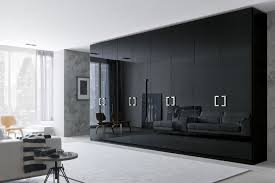 Black And White Laminate Floor Interesting Modern Gray Black Interior Wardrobe Design Ideas