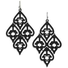 black chandelier earrings american matte black chandelier earrings heirloom finds