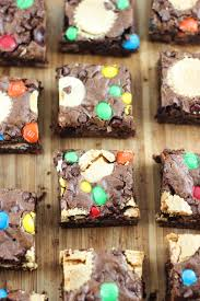 leftover halloween candy bar brownies