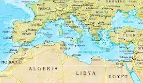 algeria physical map mediterranean sea physical map