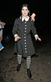 Halloween Costume Wednesday Addams Jimmy Carr Wednesday Addams Celebrity Halloween Costumes