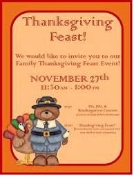 thanksgiving feast flyer invitation pay teachers