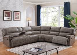 donovan sectional sofa with 3 reclining seats taupe color local