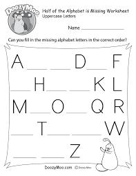 missing letter worksheets free printables doozy moo