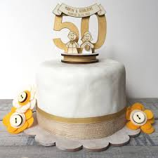 50th wedding anniversary cake topper personalised 50th wedding anniversary cake topper by just toppers