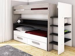lit superposé bureau lits superposés david 90x190 bureau lit amovible rangement