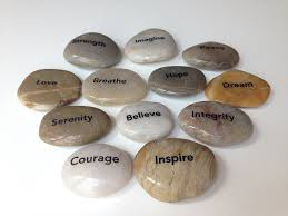 amazon com engraved inspirational stones 12 different words