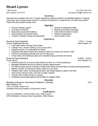Personal Assistant Resume Sample by Personal Care Assistant Resume Sample Free Resume Example And