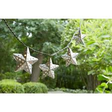 String Lights For Patio Home Depot by Hampton Bay 10 Light Metal Outdoor Star Incandescent String Light