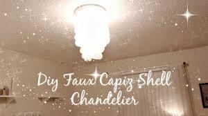 diy shell chandelier diy faux capiz shell chandelier
