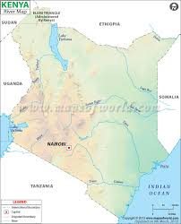 Africa Map Rivers River Map