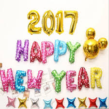 new year supplies new 16 inch silver gold happy new year 2017 foil balloons party