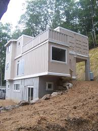 excellent shipping container home foundation images ideas amys