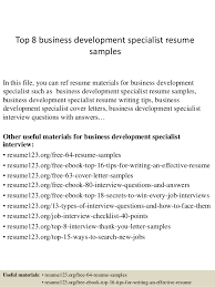 Best Construction Resume by Top 8 Business Development Specialist Resume Samples 1 638 Jpg Cb U003d1427855819