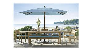 Outdoor Dining Set With Bench Regatta Outdoor Extension Dining Table Crate And Barrel