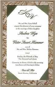 Weddings Invitation Cards Invitation Card Card Formal Elegant Wedding Response X Sample Of