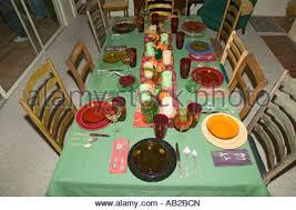 thanksgiving dinner setting ojai california stock photo royalty