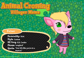 Animal Crossing Villager Meme - animal crossing villager meme falner the deer by insanity hyde