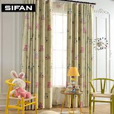 owl bedroom curtains aliexpress com buy children kids curtain cartoon owl pattern