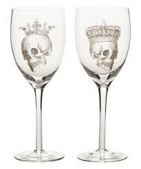 halloween barware department 56 halloween skull crown wineglass set of two zulily