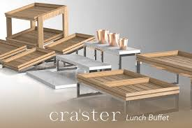 craster buffet display systems at houseware ie lunch buffet flow