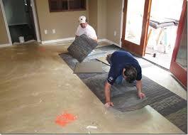 Carpet Tiles In Basement The