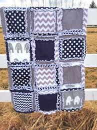 Navy Blue Chevron Crib Bedding by Rag Quilt Elephant Chevron And Polka Dot Baby Blanket In Navy