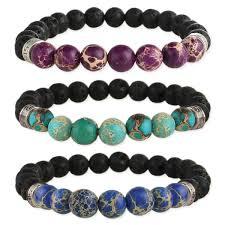 bead bracelet images Stone lava bead diffuser stretch bracelet jpg