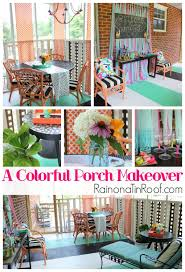 Decorating Screened Porch A Colorful Screened In Porch Makeover