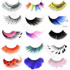 coloured false eyelashes ebay