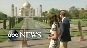 prince william kate middleton visit taj mahal youtube
