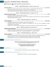Procurement Sample Resume by Resume Samples For Sales And Marketing Jobs