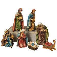 7 resin nativity set 2213190ec the home depot