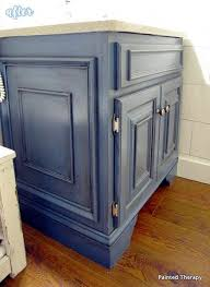 basic boring builder grade oak vanity added trim and paint and it