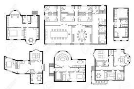 architectural plan modern office architectural plan interior furniture vector