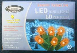 led mini 60 lights orange random twinkling bulbs new