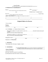 petition for divorce texas fill online printable fillable