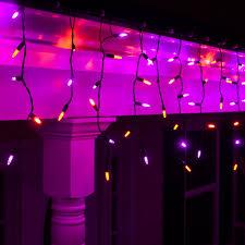 70 m5 led icicle lights purple black wire yard