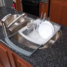 dish drainer for small side of sink inside rv kitchen dining kitchen fixtures cing world