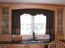 Curtain Design Interior Kitchen Window With Regard To Curtains As Vintage