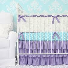 Purple And Aqua Crib Bedding Lovley Damask Vintage Gray Lavender Crib Set Caden