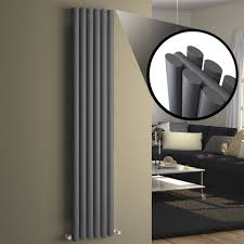 anthracite tall vertical column radiator 1600x360 rc52 ebay