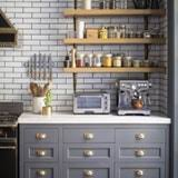 look we love gray kitchen cabinets with brass hardware kitchn