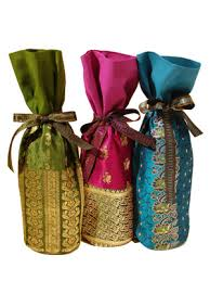 wine gift bag kismet designs venice california one of a vintage sari wine