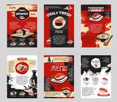 posters cuisine vector poster for japanese sushi bar or restaurant stock vector