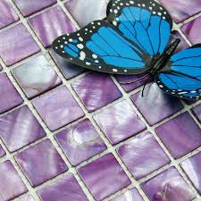 purple kitchen backsplash sea shell mosaic of pearl tile kitchen backsplash