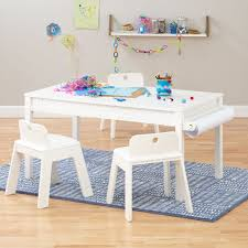 small adjustable white activity table playrooms farmhouse
