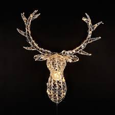crystal deer head lighting 140 led christmas light figure indoor