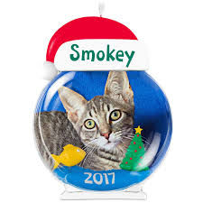the purrfect personalized cat photo frame ornament