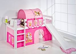 Pink Kids Bunk Bed With Slide And Stairs  Kids Bunk Bed With - Pink bunk beds for kids